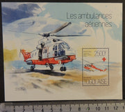 Togo 2013 air ambulances emergengy services helicopters aviation medical s/sheet mnh