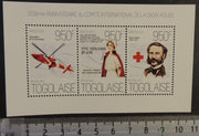 Togo 2013 red cross henri dunant helicopters aviation women m/sheet mnh