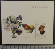 Togo 2013 paul gauguin art flowers fruit food s/sheet mnh