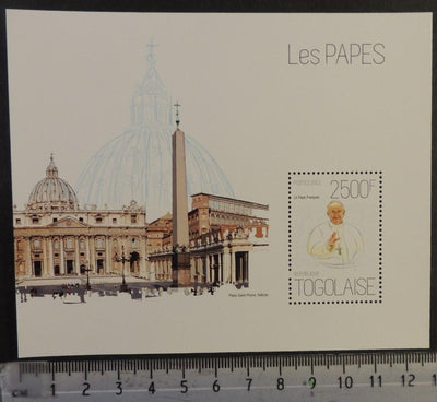 Togo 2013 popes religion francis vatican st peters sqaure s/sheet mnh