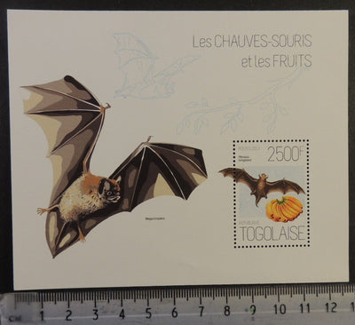 Togo 2013 bats mammals fruits bananas s/sheet mnh
