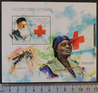 Togo 2013 red cross women insects mosquitos dunant medical s/sheet mnh