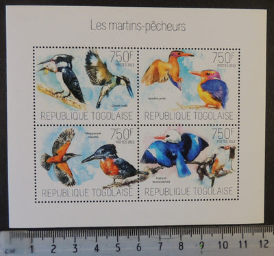 Togo 2013 kingfishers birds fish rodents m/sheet mnh