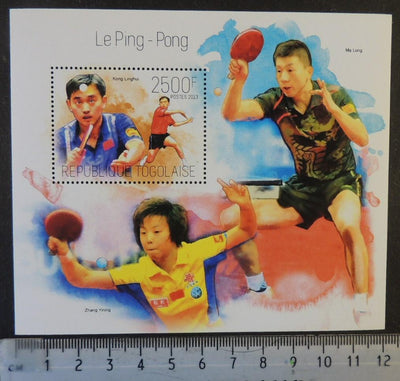 Togo 2013 table tennis ping pong sport linghui yining long s/sheet mnh