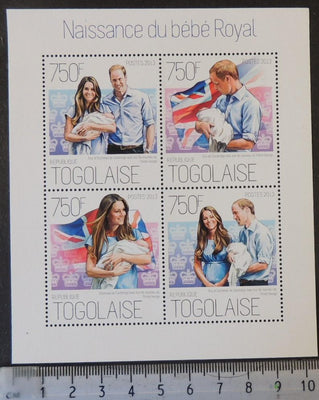 Togo 2013 royal birth baby royalty william kate m/sheet mnh