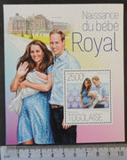 Togo 2013 royal birth baby royalty william kate s/sheet mnh