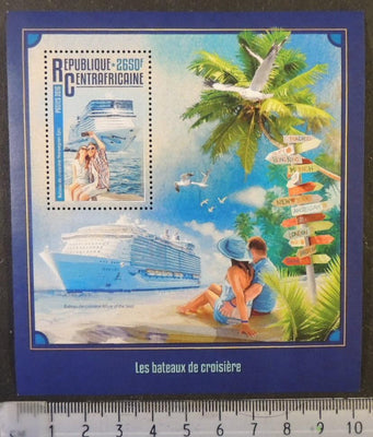 Central African Republic 2016 cruise ships liners transport trees s/sheet mnh