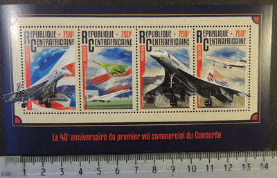 Central African Republic 2016 concorde aviation transport m/sheet mnh