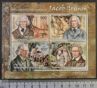 Central African Republic 2013 jacob grimm fairy tales children m/sheet mnh