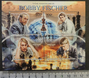 Central African Republic 2013 chess bobby fischer m/sheet mnh