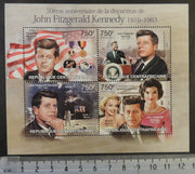 Central African Republic 2013 john f kennedy americana US president space apollo 11 jackie marilyn monroe m/sheet mnh