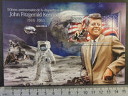 Central African Republic 2013 john f kennedy americana US president space apollo 11 neil armstrong s/sheet mnh
