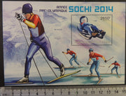 Central African Republic 2013 sport olympics sochi skiing sledge s/sheet mnh