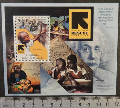 Central African Republic 2012 international rescue committee women children einstein s/sheet mnh