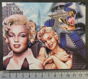 Central African Republic 2012 marilyn monroe music cinema women pinup s/sheet mnh