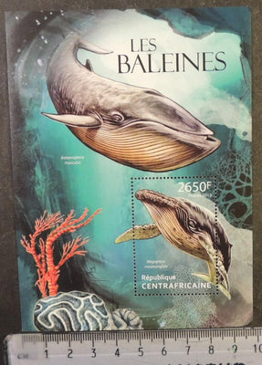 Central African Republic 2013 whales marine life mammals s/sheet mnh