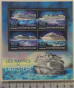 Central African Republic 2013 cruise ships transport tourism m/sheet mnh