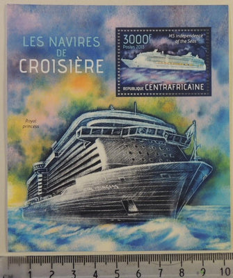 Central African Republic 2013 cruise ships transport tourism s/sheet mnh