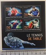 Central African Republic 2013 table tennis sport zhendong franziska niwa ovtcharov m/sheet mnh