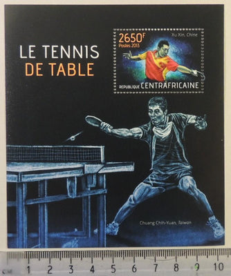 Central African Republic 2013 table tennis sport chih-yuan xu xin s/sheet mnh