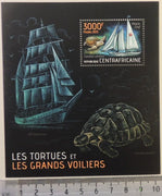 Central African Republic 2013 turtles reptiles sailing ships s/sheet mnh