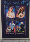 Central African Republic 2013 royalty baby george diana william kate m/sheet mnh