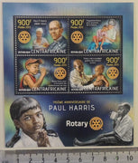Central African Republic 2013 rotary paul harris children women m/sheet mnh