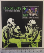 Central African Republic 2013 scouts children chess s/sheet mnh