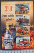 Mozambique 2016 great fire of londonfire engines trucks tenders disasters m/sheet mnh