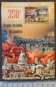 Mozambique 2016 great fire of londonfire engines trucks tenders disasters s/sheet mnh