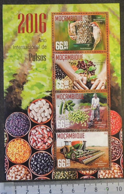 Mozambique 2016 pulses beans food birds seeds m/sheet mnh
