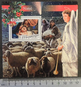 Mozambique 2016 christmas religion nativity angels s sheep animals /sheet mnh