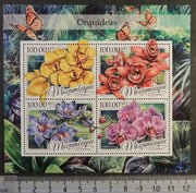Mozambique 2016 orchids flowers m/sheet mnh