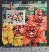 Mozambique 2016 orchids flowers s/sheet mnh