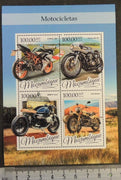 Mozambique 2016 motorcycles honda bmw transport m/sheet mnh