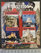 Mozambique 2016 castles architecture m/sheet mnh