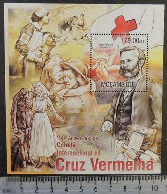 Mozambique 2013 red cross henri dunant medical dogs children women flags s/sheet mnh