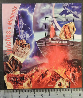Mozambique 2013 volcanoes and minerals s/sheet mnh
