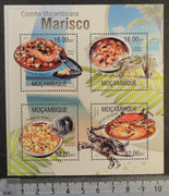 Mozambique 2013 shellfish marine life food mussels lobster m/sheet mnh