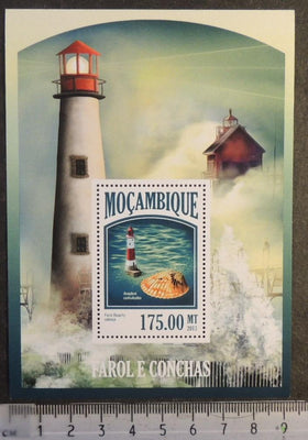 Mozambique 2013 lighthouses and shells marine life s/sheet mnh