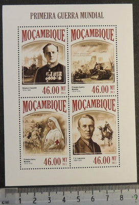 Mozambique 2013 first world war ww1 wwi militaria churchill tanks red cross lawrence m/sheet mnh