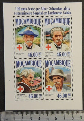 Mozambique 2013 albert schweitzer red cross m/sheet mnh