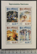 Mozambique 2013 american impressionists art paintings garber sawyler metcalf frieseke m/sheet mnh