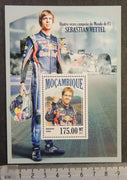 Mozambique 2013 sebastian vettel formula one f1 sport car racing s/sheet mnh