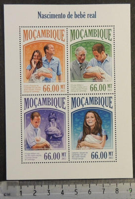 Mozambique 2013 royal baby george william kate roylaty charles diana m/sheet mnh