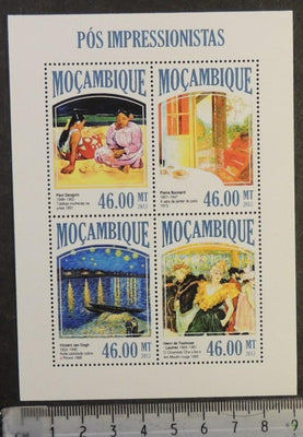 Mozambique 2013 post impressionists art women gauguin bonnard van gogh lautrec m/sheet mnh