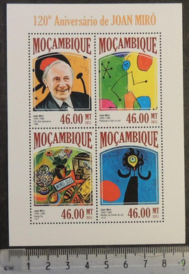 Mozambique 2013 joan miro art abstract paintings m/sheet mnh