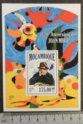 Mozambique 2013 joan miro art abstract paintings s/sheet mnh