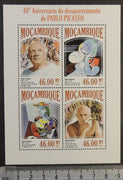 Mozambique 2013 pablo picasso smoking art abstract paintings m/sheet mnh