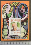 Mozambique 2013 pablo picasso art abstract paintings s/sheet mnh